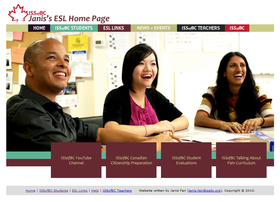 How to use Janis's ESL Home Page!