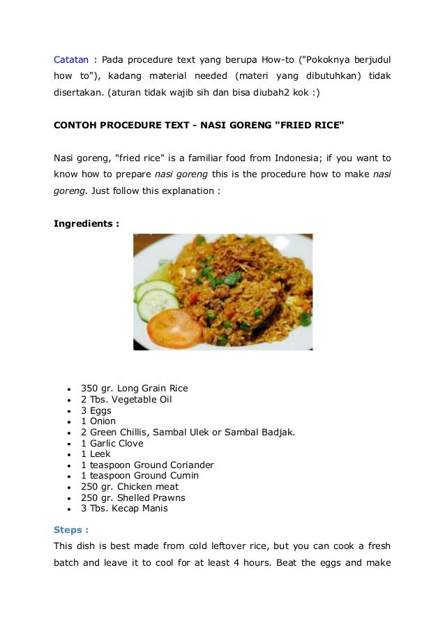 procedure text on fried rice 2 thinglink