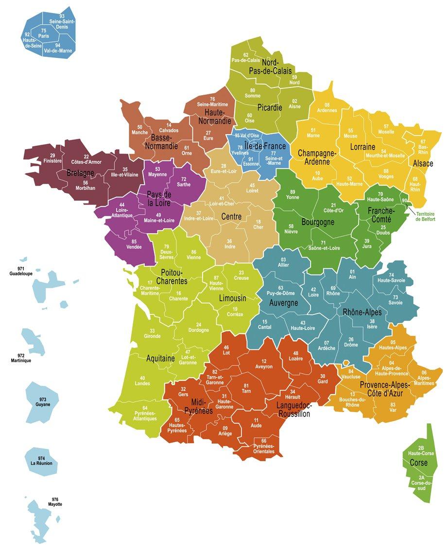 Carte quelles vont tre les futures pr fectures de r gion l 39 express - Region la plus sure de france ...