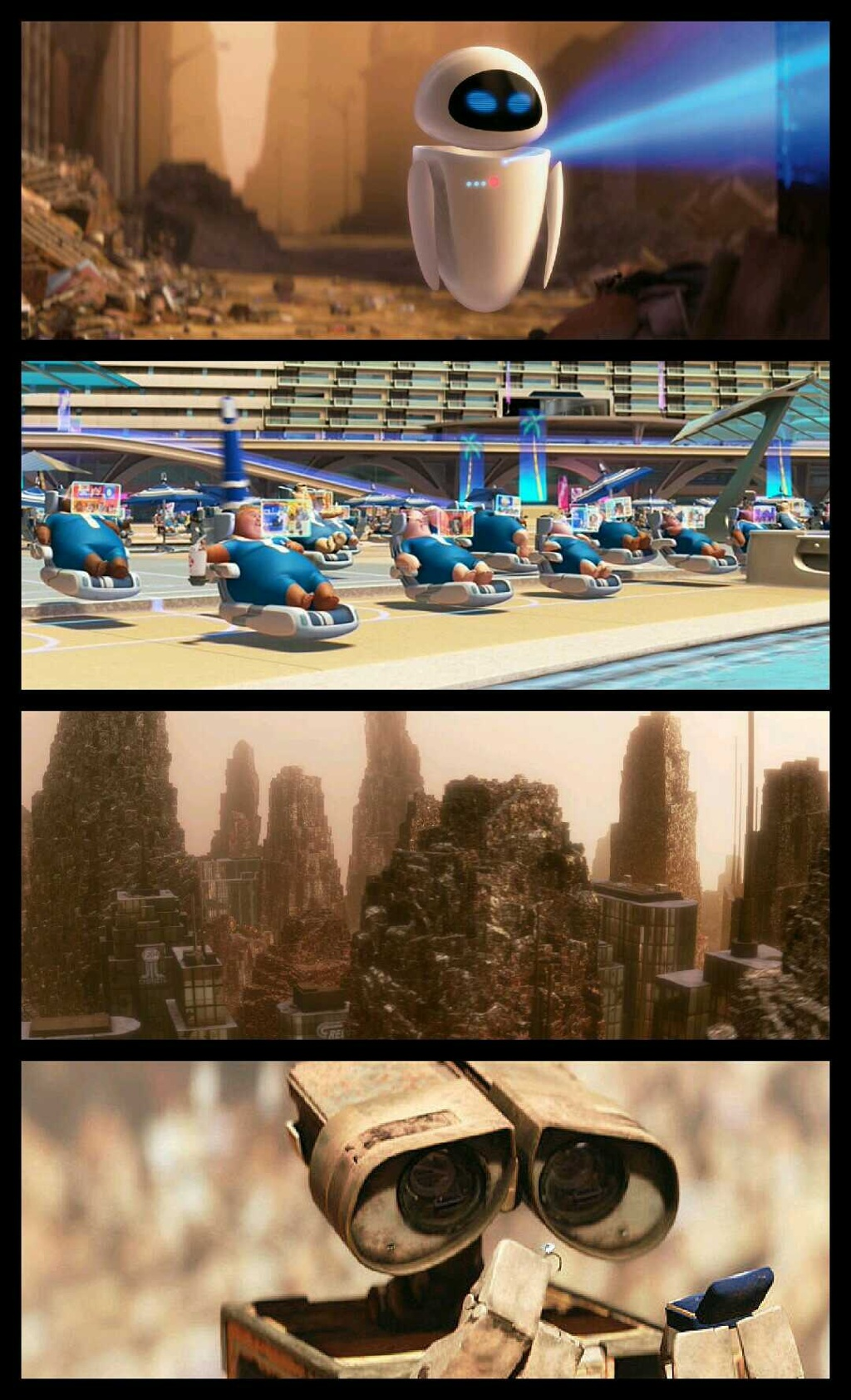"""Satire Examples in the movie """"Wall E"""""""