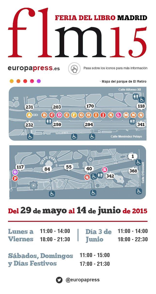 Feria del libro 2015 horario y autores for Milenio 3 horario