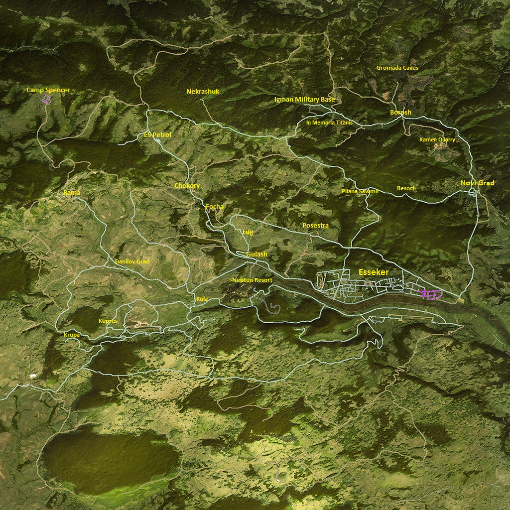 Map of Esseker - ARMA 3 - Esseker