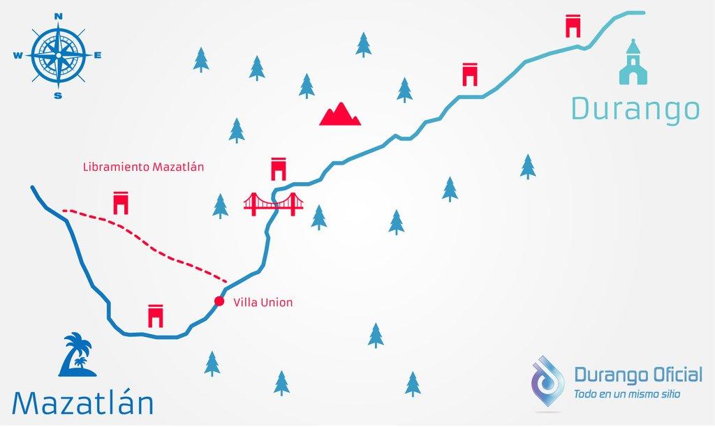 Autopista Durango Mazatln Precios costos mapa casetas