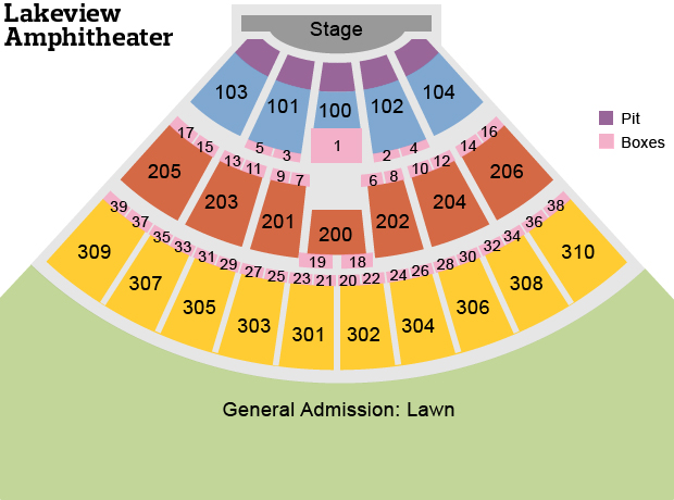 syracuse interactive seating chart: See what the lakeview amphitheater stage will look like from your