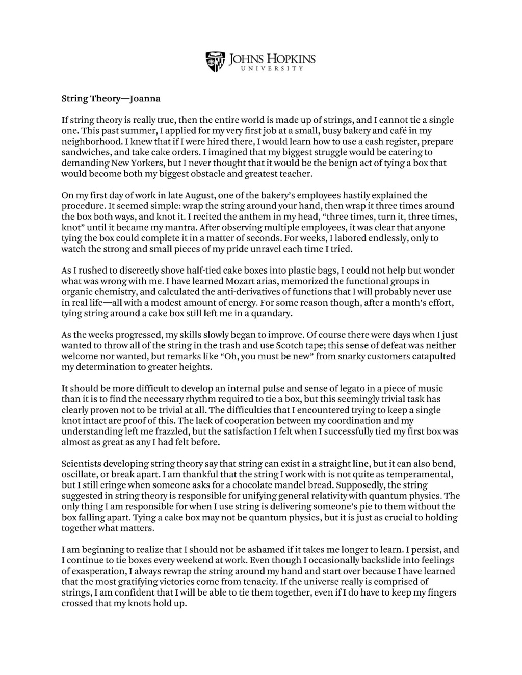 examples of great college application essays
