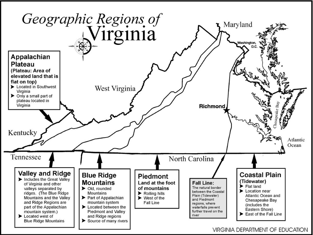Travel to the Regions of Virginia  ThingLink