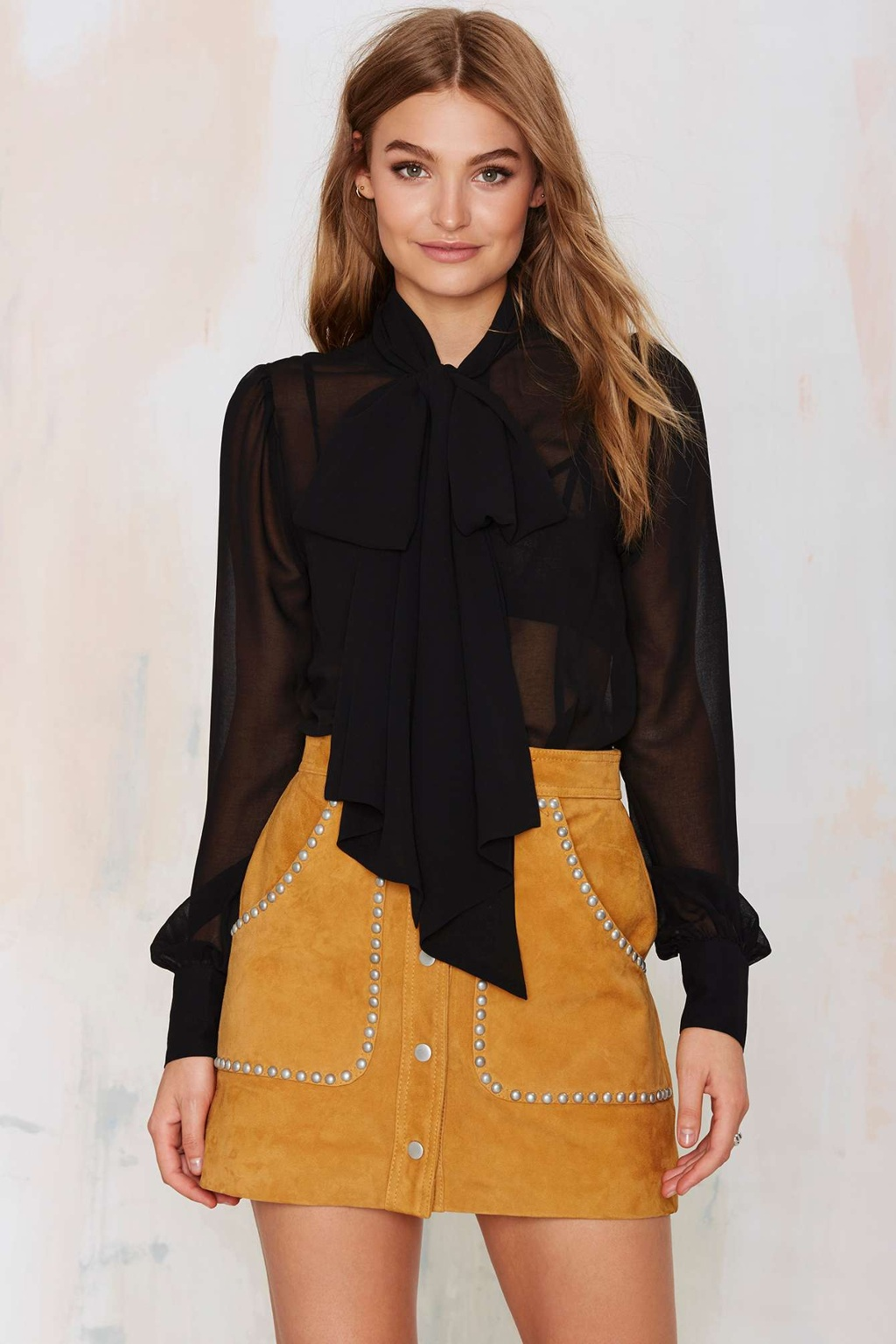 nasty gal, sheer blouse, sheer top