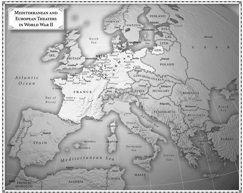 World War II - Map of europe ww2