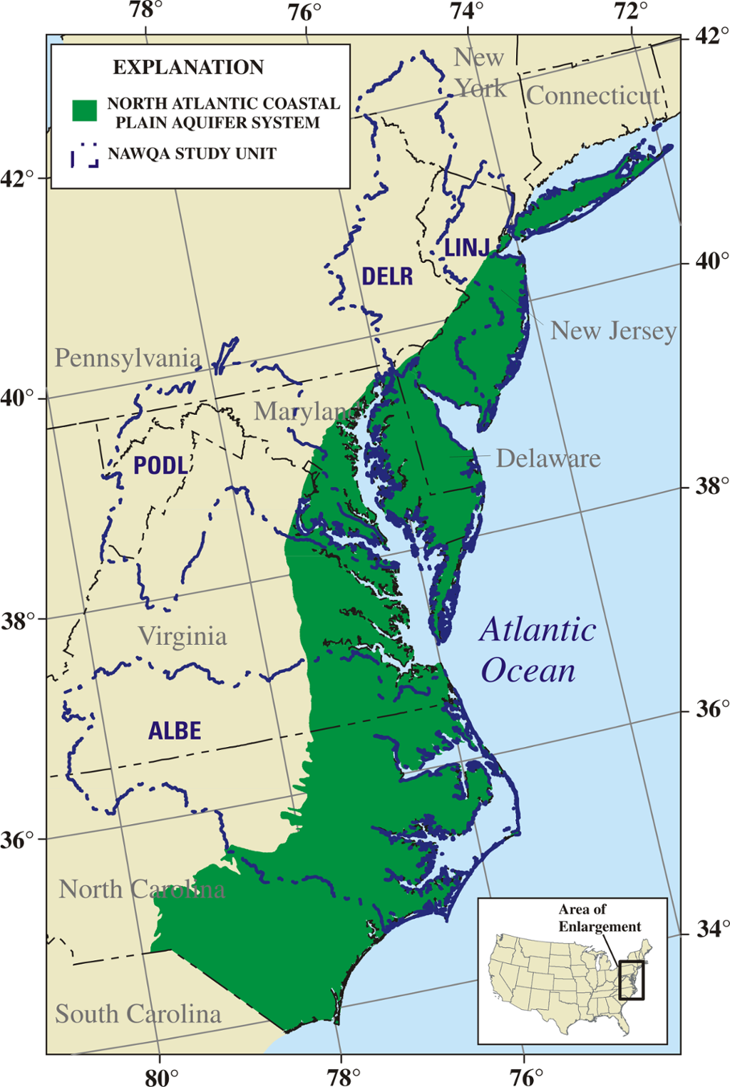 Atlantic Coastal Plain Map Uptowncritters - Plain usa map