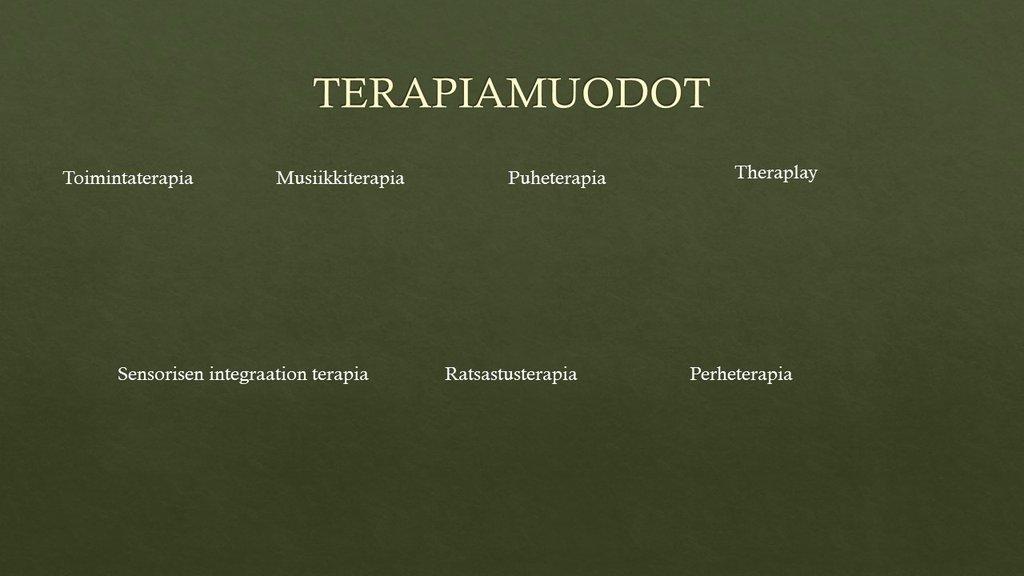 eri terapiamuodot