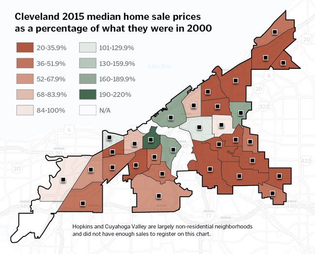 Clevelandarea House Prices Are Rising But Recovery Is Uneven At - Cleveland ohio usa map