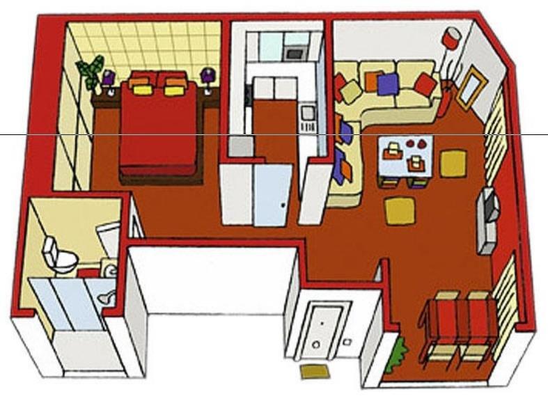 Partes de la casa las preposiciones de lugar for Modelos planos de casas para construir