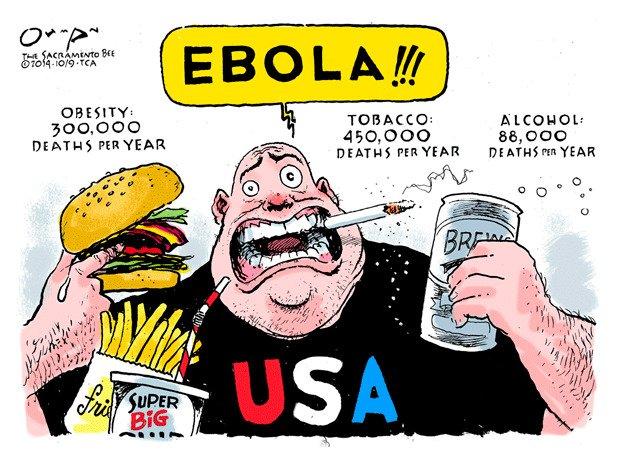 ebola political cartoon