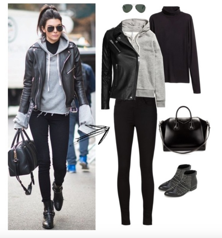 hooded sweatshirt street style kendall jenner look for less