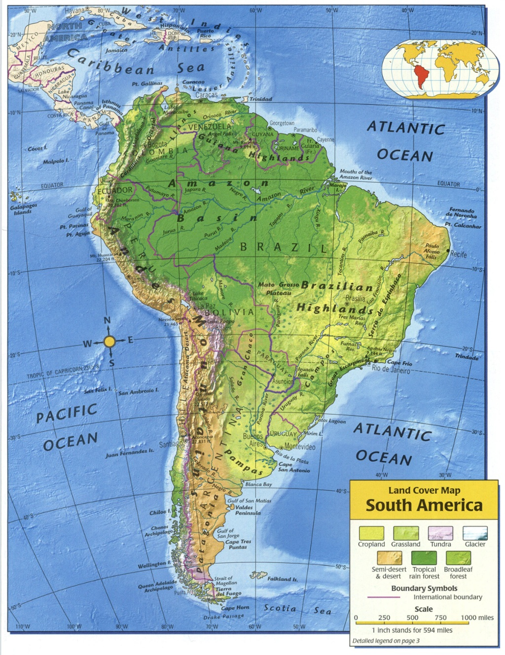 Influences Of The Physical Features Of South America