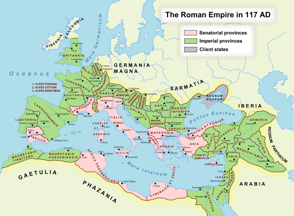 The Roman World Interactive Map HeritageDaily Heritage Archaeolog