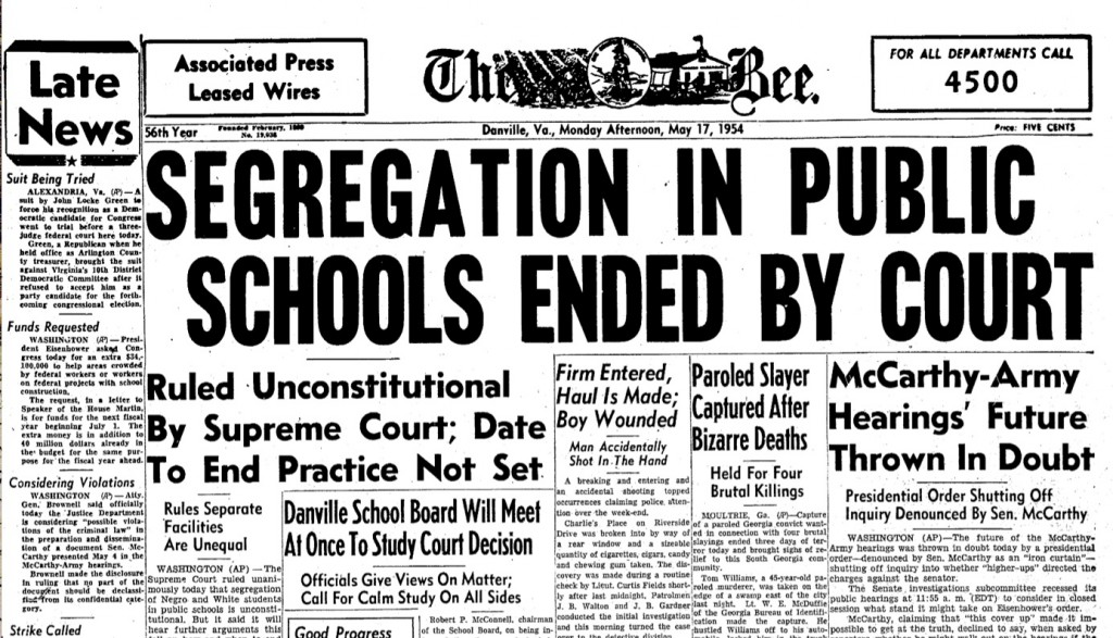 the brown vs board of education case In the case of brown v board of education, the federal district court even cited the injurious effects of segregation on black children, but held that separate but equal was still not a violation of the constitution it was clear to those involved that the only effective route to terminating segregation in.