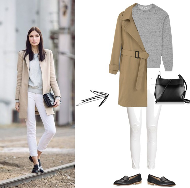 classic mixed neutrals street style