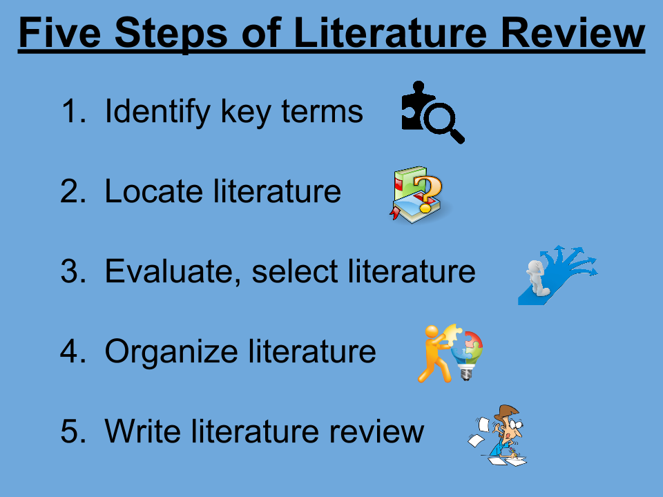 steps  literature review educational research