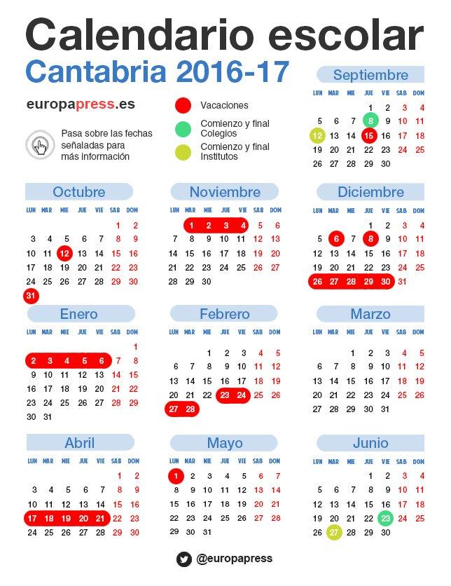 Así es el calendario escolar de Cantabria que tanto ha dado que ...