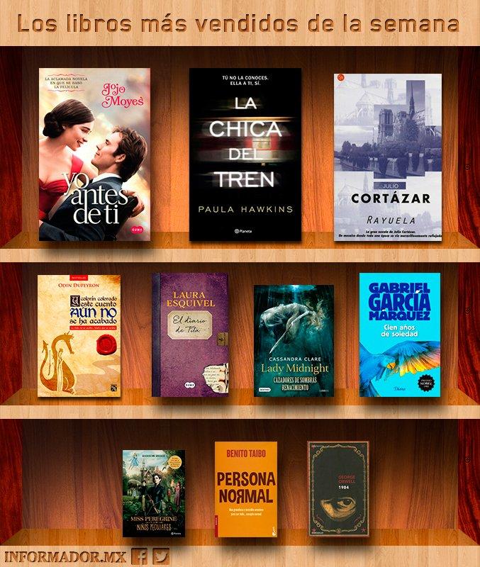 Los libros más vendidos de la semana 30jun a 6ago