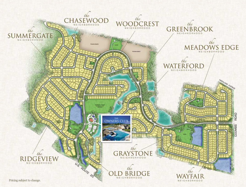 Plan Your Visit MoveIn Ready Home Map at Highland Woods Crown