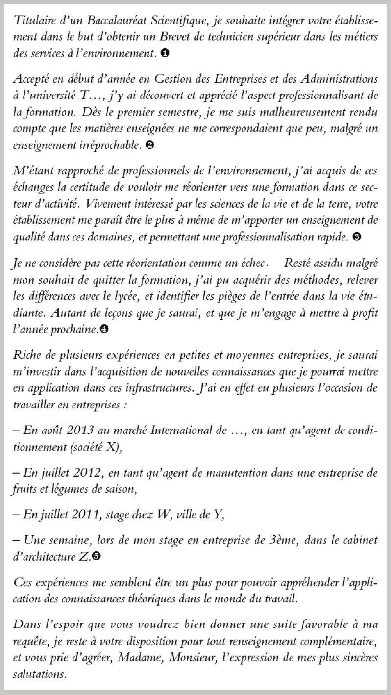 rtf  lettre de motivation cinema audiovisuel
