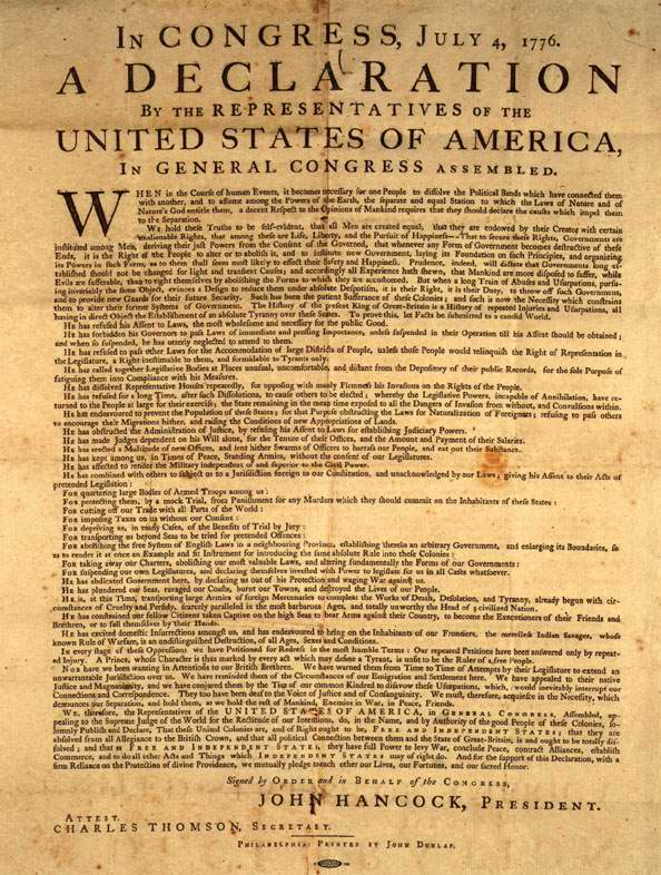 thesis statement on the declaration of independence The goals sought by thomas jefferson (and other contributors) inwriting the declaration of independence were primarily two innumber first, jefferson and the others involved sought to justifyon.