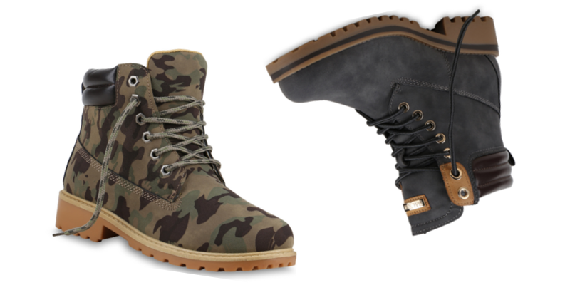 Hiking Boots Damen Camouflage