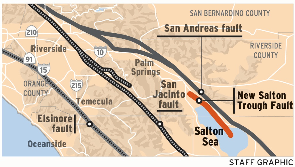 Why The Discovery Of A New Fault Near The Salton Sea Earthquake - Salton sea on us map