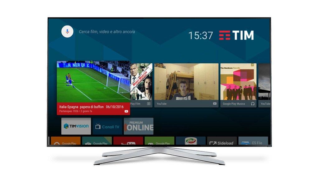 Decoder timvision con android tv la prova interattiva for Timvision app smart tv