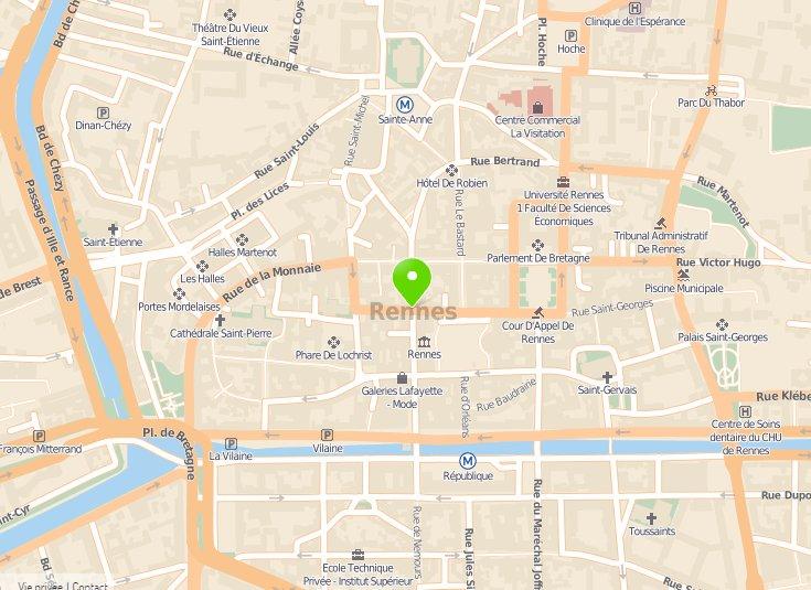 Favori Plan du Centre-Ville de Rennes - ThingLink NC21