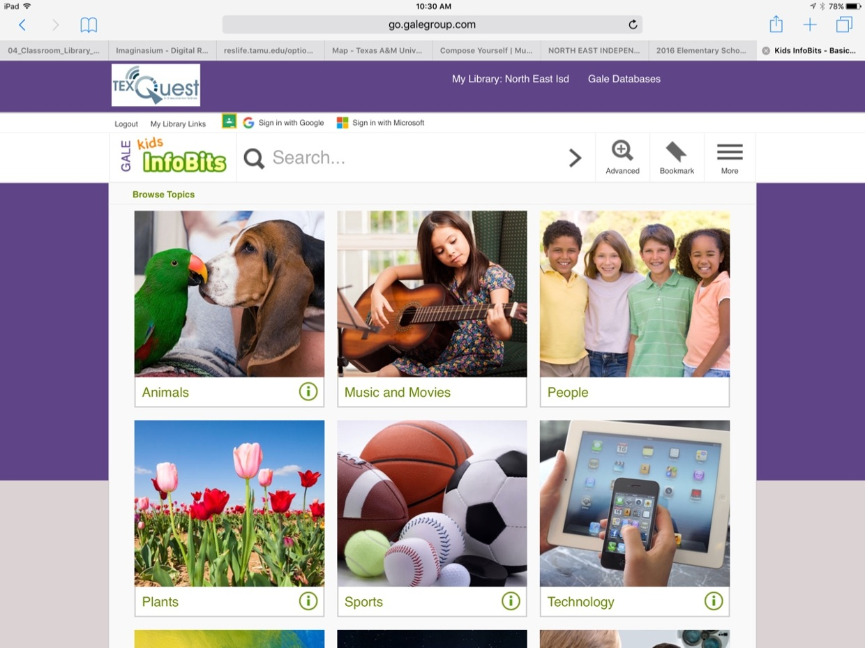 Getting Acquainted with Kids InfoBits