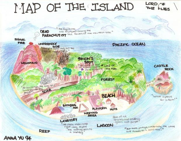 Lord Of The Flies Island Map Project Answers