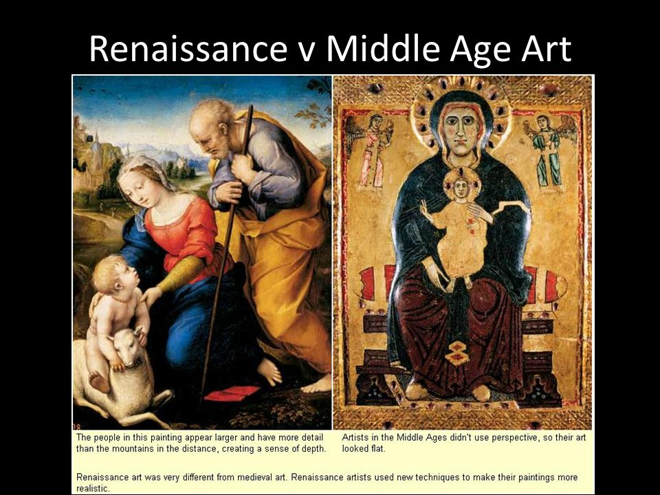 a comparison of the medieval and The medieval philosopher a religious event in which many christian churches commemorate the announcement of the incarnation of luke either documents similar to a comparison of the medieval and renaissance eras skip carousel.
