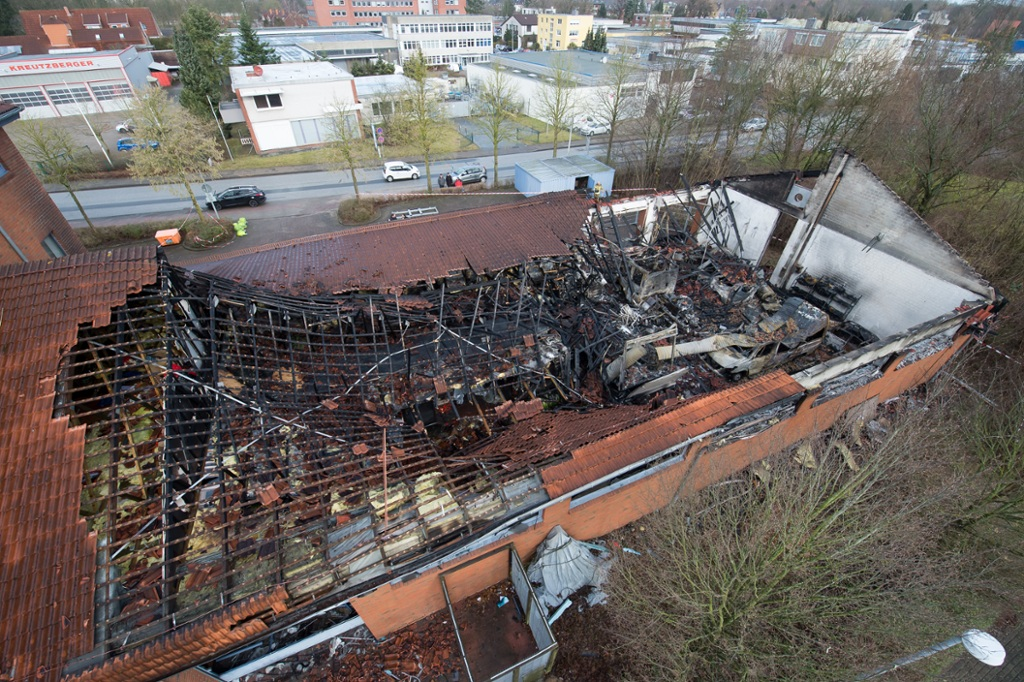 Kronshagen: Millionenschaden bei Brand in Feuerwehrgebäude
