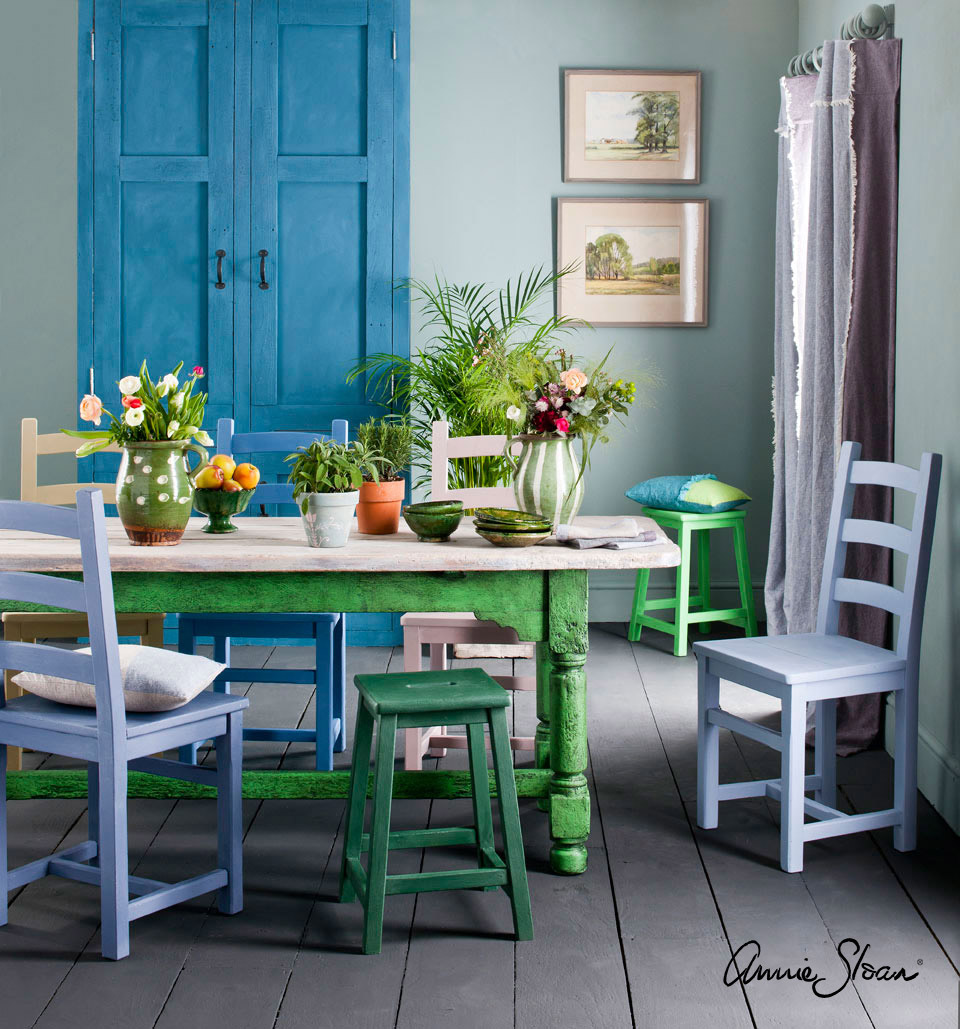 Inspiration annie sloan painted dining room annie sloan - Dining small spaces paint ...
