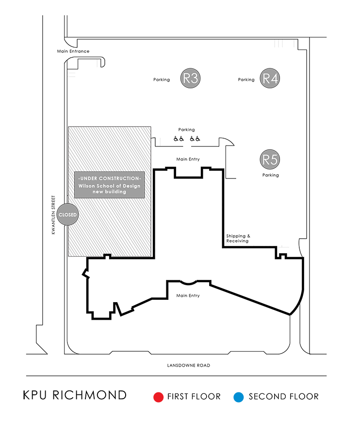 Richmond Campus Maps  KPUca  Kwantlen Polytechnic