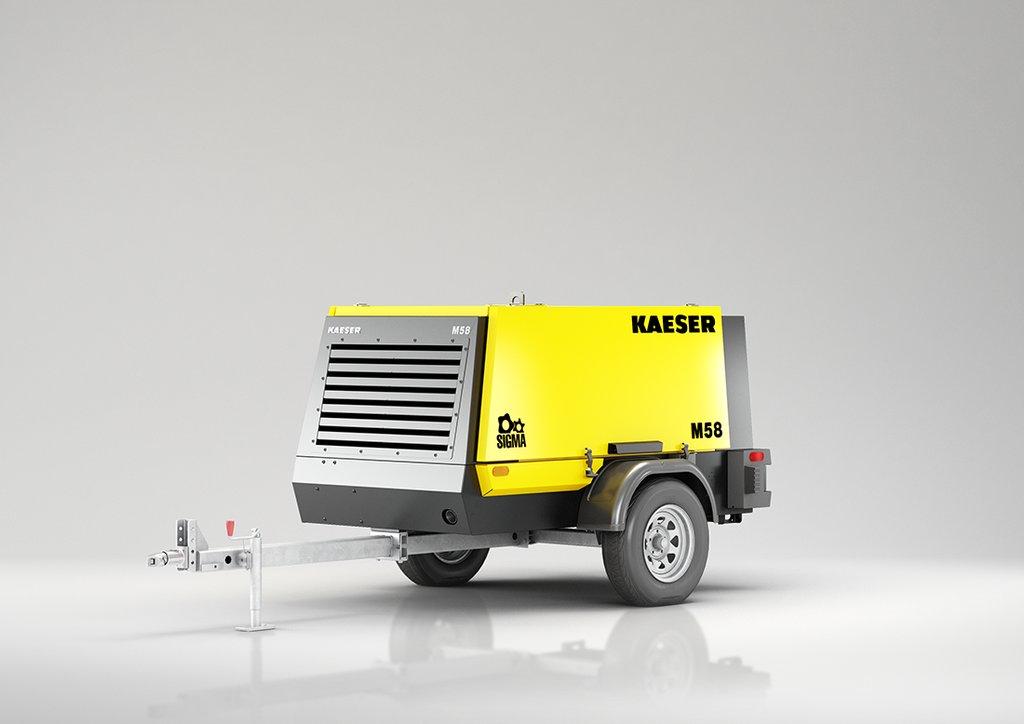 Tow Behind Portable Air Compressor Kaeser Mobilair