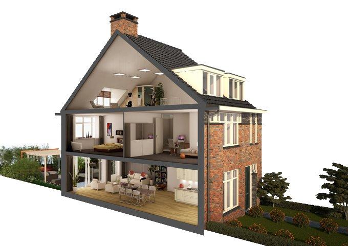 Hoek 1 teken jouw droomhuis hoek 2 duurzaam wonen i for Huis maken 3d