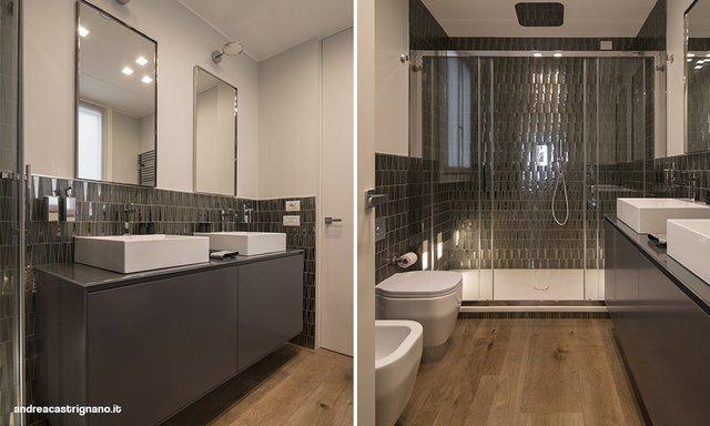 Specchio bagno incassato nelle piastrelle awesome specchio bagno