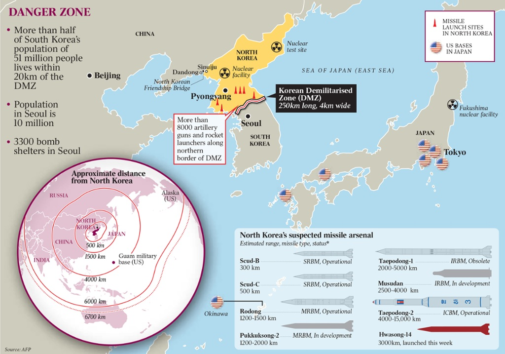 This Time Ignoring North Korean Nuclear Weapons Is No Longer An - Us bases in japan map