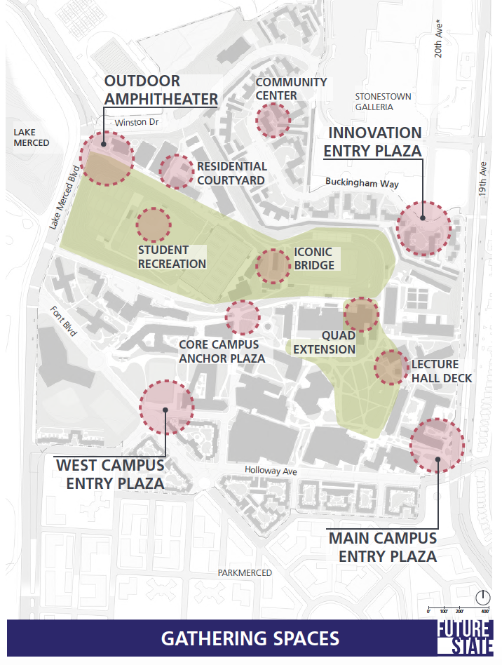 Brenau University Campus Map.Concept Plans Future Sf State Masterplan