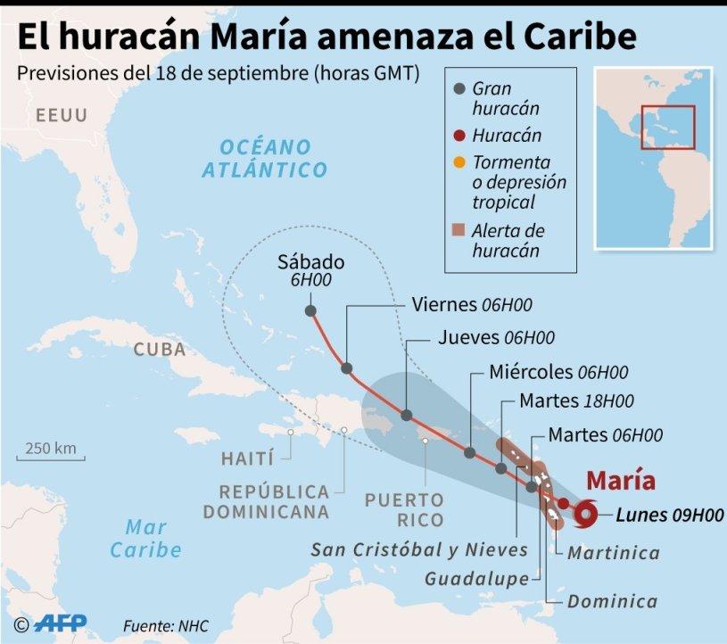 Huracán María causa hasta ahora 35 muertes en el Caribe