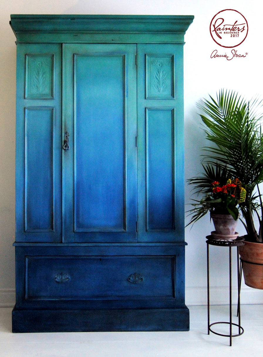 Inspiration Blue Ombre Wardrobe By Ildiko Horvath