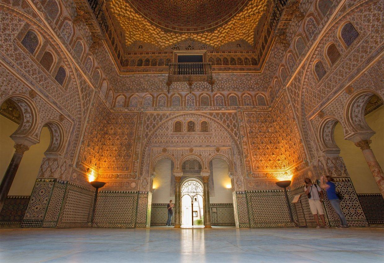 Alcazarin valtaistuinsali, Sevilla