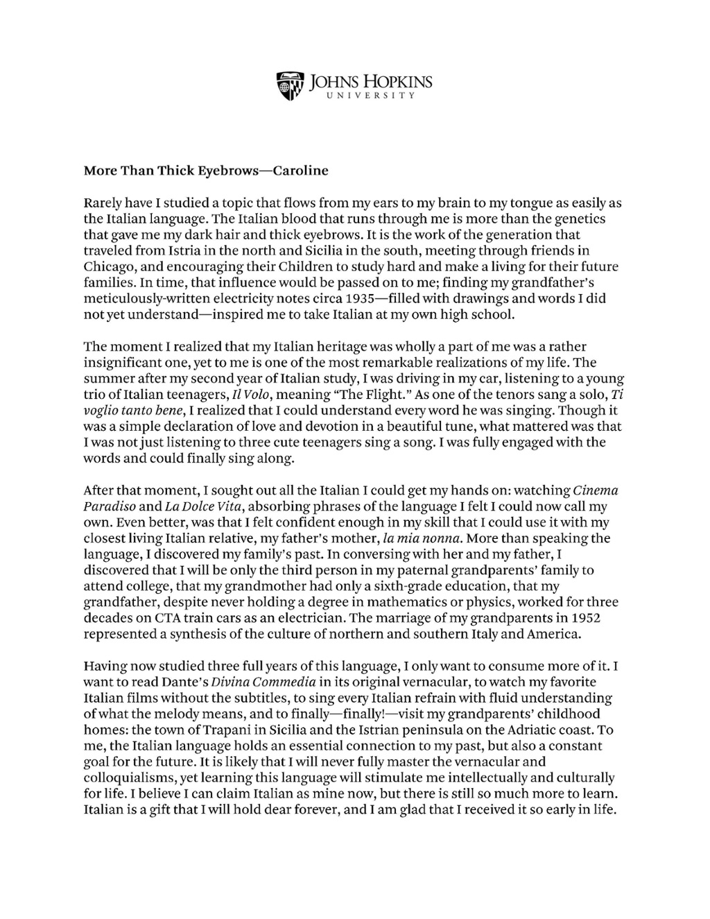 College admission essay why this college