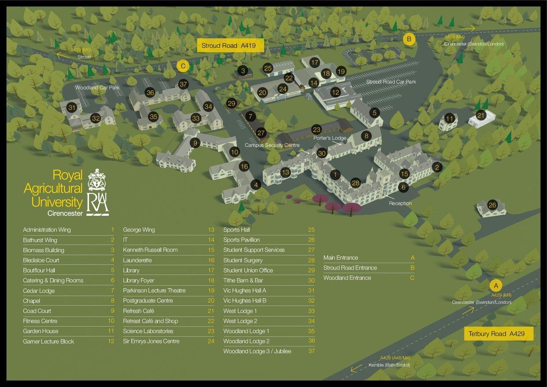 RAU Campus map
