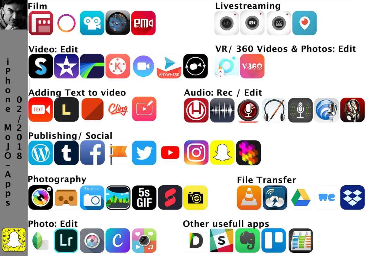 iphone MoJo Apps 02/2018