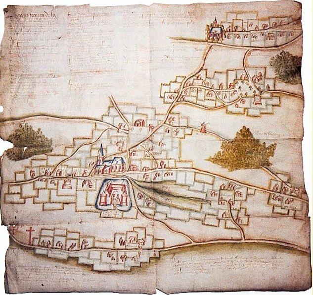 La seigneurie de Wismes (à 40 km à l'est d'Amiens) au XVe s.